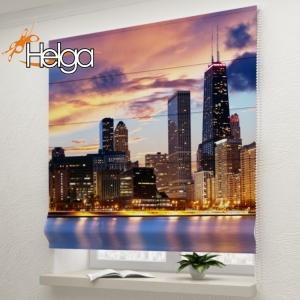 Чикаго на закате арт. 2095