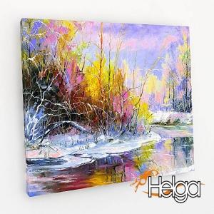 Зимний пейзаж холст Арт.3330