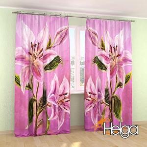 Розовые лилии холст арт.3849