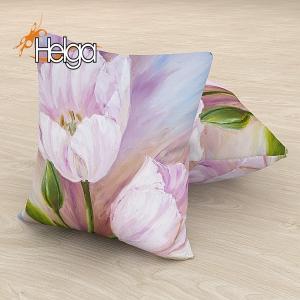 Розовые тюльпаны холст Арт.2825