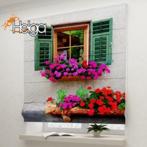 Окно с цветами в Италии  арт. 3335