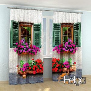 Окно с цветами в Италии Арт.3335