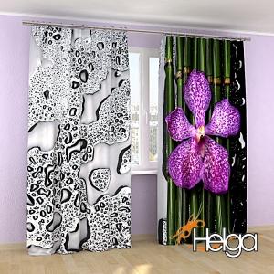 Розовая орхидея и бамбук v3 Арт.3917