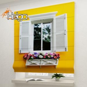 Окно с цветами в Италии v2 арт. 3455