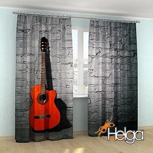 Гитара на фоне стены v3 арт.3669