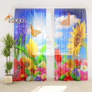 Бабочки в цветах v4 Арт.3351