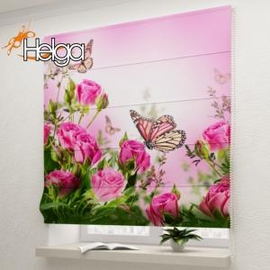 Бабочки в розах v2 арт. 3347