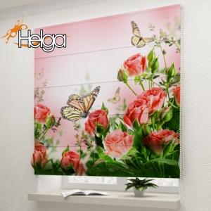 Бабочки в розах v3 арт. 3348