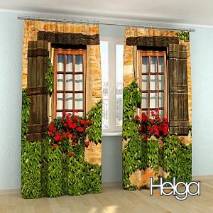 Окна с цветами v2 арт. 2363