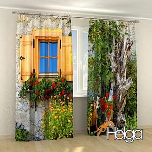 Окно с цветами v3 Арт.3322