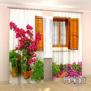 Окно с цветами v4 Арт.3323