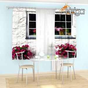 Окно с цветами v6 арт.3937