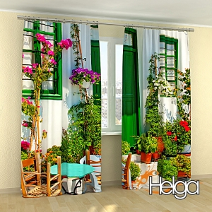 Дом в цветах Греция Арт.3774