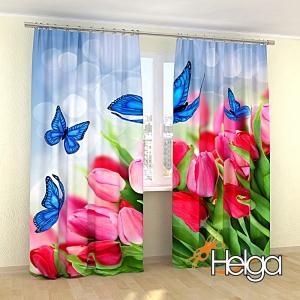 Бабочки в тюльпанах Арт.3737