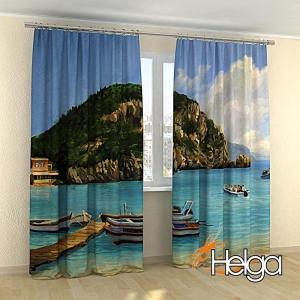 Греция Морской пейзаж холст арт.3574