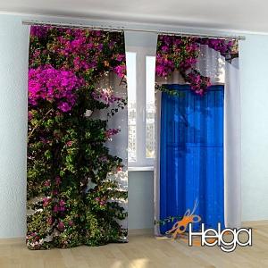 Дом в цветах на Санторини v2 арт.3577