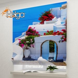 Дом в цветах на Санторини v3 арт.3910