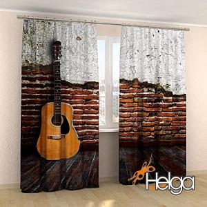 Гитара на фоне стены v2 арт.3568