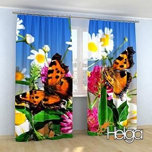 Бабочки в ромашках v2 Арт.3549
