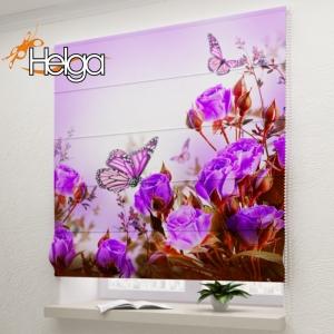 Бабочки в розах v1 арт. 3346