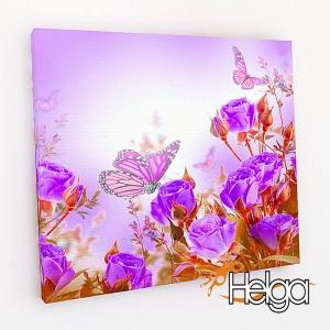 Бабочки в розах v1 Арт.3346