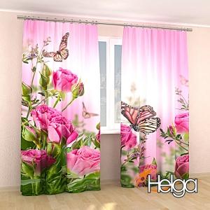 Бабочки в розах v2 Арт.3347