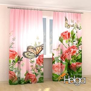 Бабочки в розах v3 Арт.3348