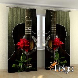 Гитара и роза v2 арт.3759